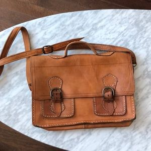 Handbags - Rustic leather satchel